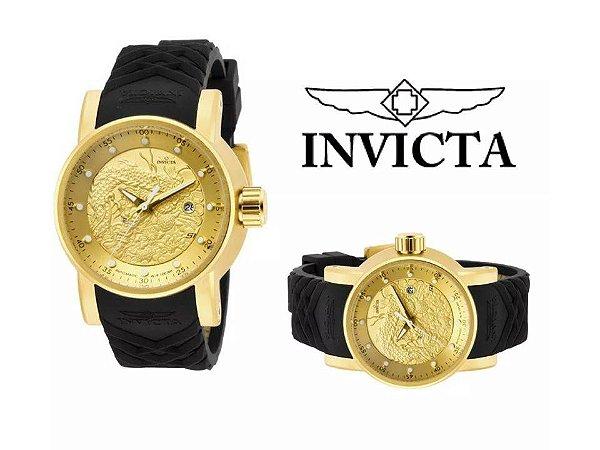 Relógio Invicta Yakuza Preto Com Caixa da Marca