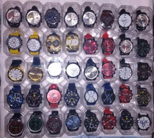 Kit 10 Relógios Masculinos Mult Marcas No Atacado