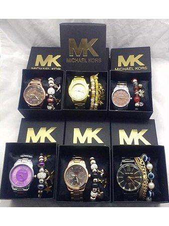 Kit 05 Relógios Mk Femininos  No Atacado - Lucro Certo