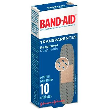 CURATIVO BAND AID TRANSP 10UN