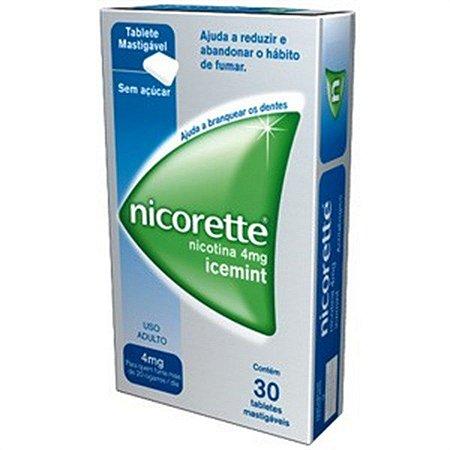 NICORETTE 4MG ICEMINT C/30 TABLETS