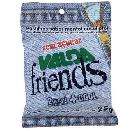 VALDA FRIENDS PAST S/ACUCAR 25G