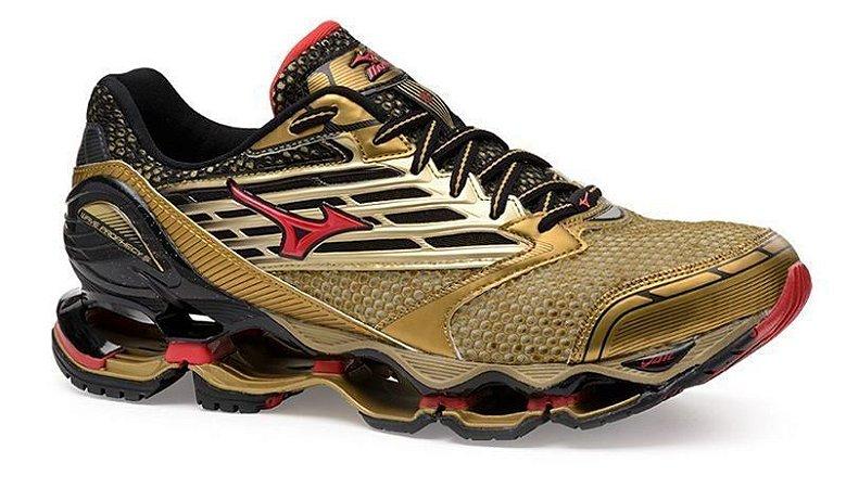 Tênis Mizuno Wave Prophecy 5 - Golden Runners - Dourado