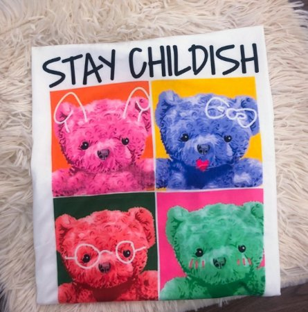 T-SHIRTS FEMININA SUPLEX OFF STAY CHILDISH