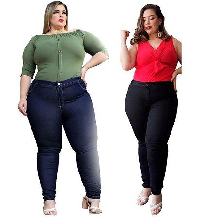 Calça Jeans Plus Size Kit Com 2 Unidades