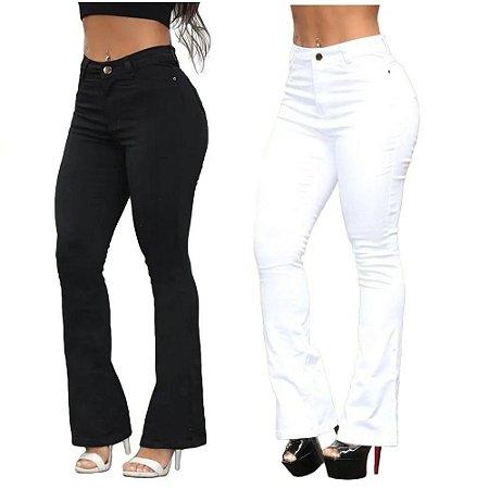 Kit 2 Calças Jeans Feminina Flare