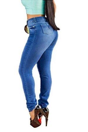 Pacote com 10 Calças Jeans Femininas Cintura Alta com Lycra - Jeans Premium