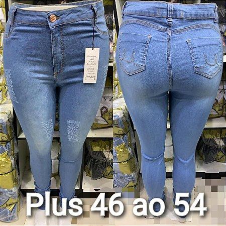Kit C/ 2 Calças Jeans Femininas Plusize