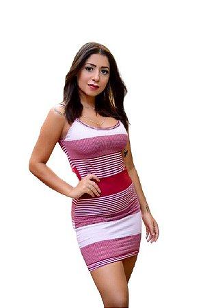 Vestido Feminino Malha Canelado Kit Com 3 Peças - Tamanho Único P/M