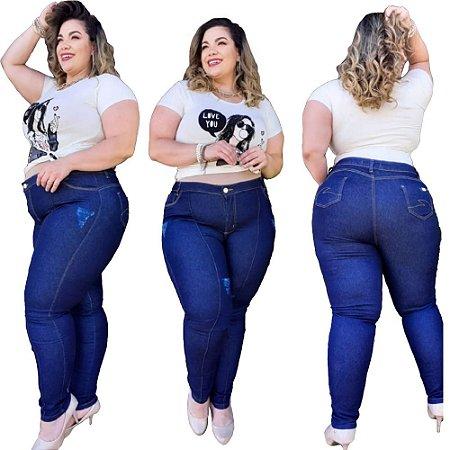 Calças Jeans Femininas Plus No Atacado Pacote C/ 10 Peças