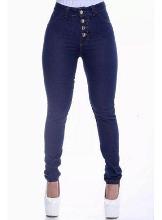 Calça Jeans Feminina Cintura Alta / Hot Pants 4 Botões