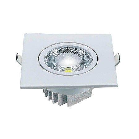 Spot LED Direcionável Quadrado 10 Watts (Caixa com 25 unidades)
