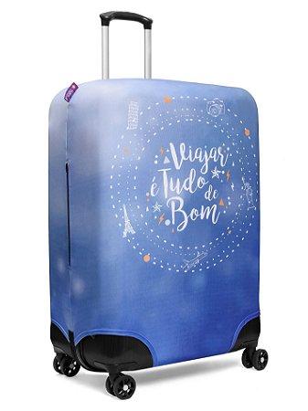 Capa para Mala | Viajar e tudo de bom Azul