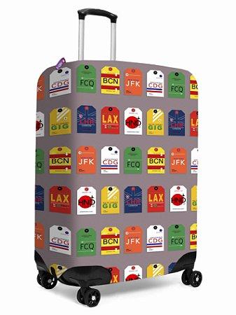 Capa para Mala | Baggage Tag Cinza