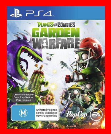 Plants vs Zombies Garden Warfare 1 ps4