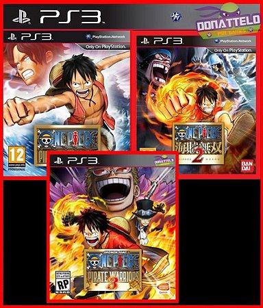 Coleção One Piece Pirate Warriors 1, 2, 3 ps3