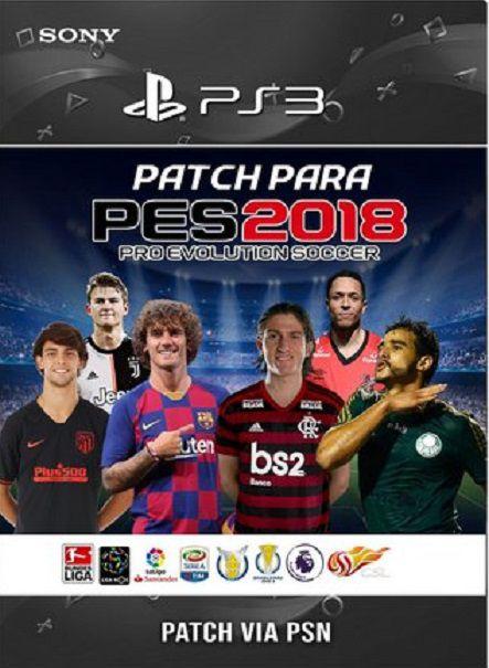 Patch para o jogo PES 2018 de PS3 (NÃO É O JOGO)