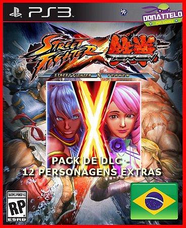 Street Fighter X Tekken Pack de personagens PS3 (NÃO É O JOGO)