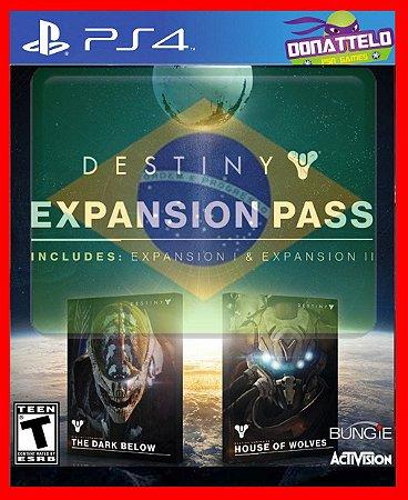 Destiny Season Pass  PS4 (dark below e house of wolves)