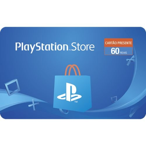 Gift Card Digital Playstation Store R$ 60 - Cartão Psn 60 (somente depósito, transferencia ou boleto)