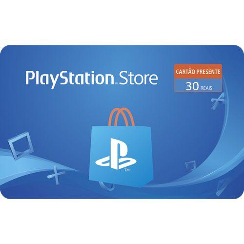 Gift Card Digital Playstation Store R$ 30 - Cartão Psn 30