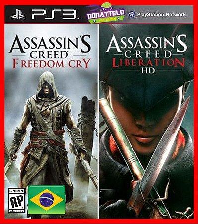 Assassins Creed Freedom Cry  e Assassins Creed Liberation HD ps3