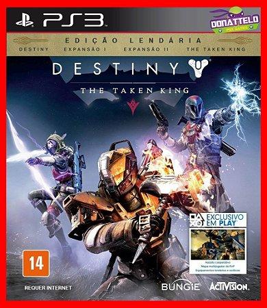 Destiny Legendary Edition - The Taken King ps3 + Dark Below, House of Wolves e The Taken King