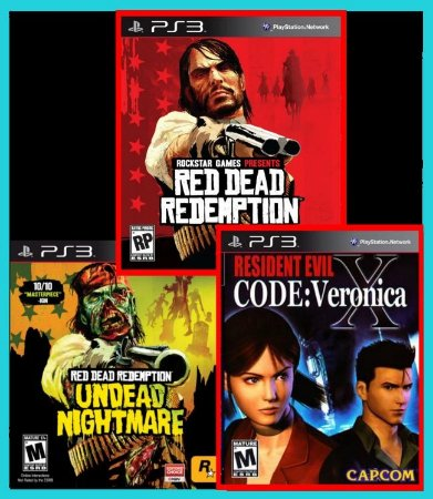 Combo Red Dead +Undead Nightmare + RE Code Veronica ps3