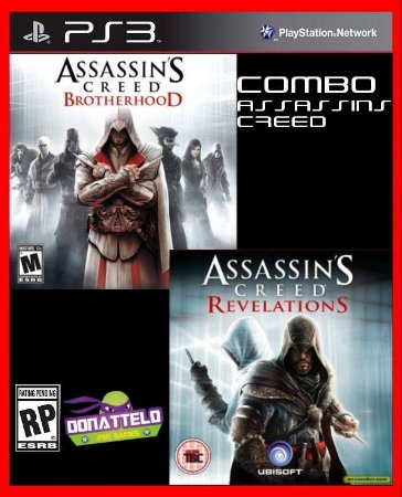 Combo Assassins Creed - Revelations e Brotherhood ps3