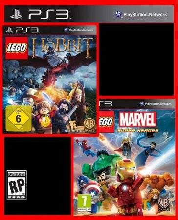 Combo Lego - O Hobbit e Marvel Super Heroes ps3