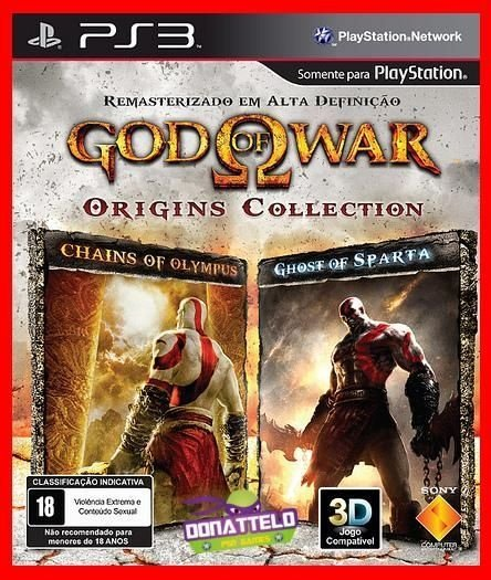 God of War Origins Collection ps3 - GOW Chain of Olympus e Ghost of Sparta-  Kratos