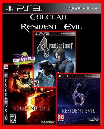 Coleção Resident Evil ps3 - Resident Evil 4, 5 e 6