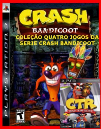 Crash Bandicoot Collection ps3 - 4 jogos