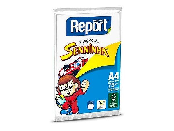 Suzano Report® Senninha© Branco A4 - 75g - CAIXA com 25 Pacotes