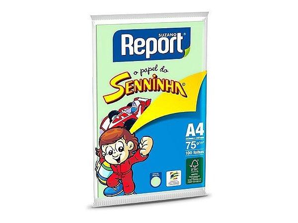 Suzano Report® Senninha© Colorido Verde A4 - 75g - CAIXA com 25 Pacotes