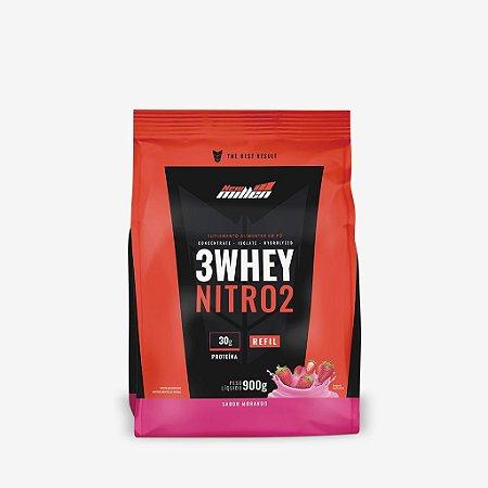 3 Whey Nitro 2 Rf 900g Morango