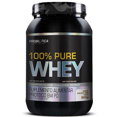 100% Pure Whey 900g Pt Iogurte Com Coco