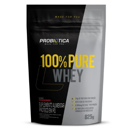 100% Pure Whey 825g Rf Morango
