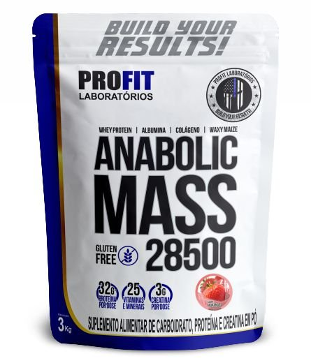 Anabolic Mass 28500 3kg Morango