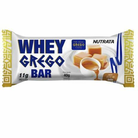 Whey Grego Bar 40g Doce De Leite