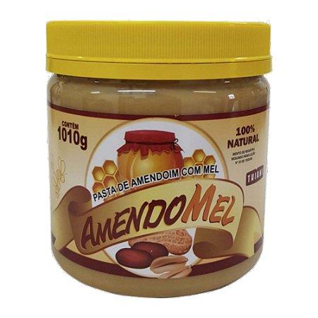Pasta De Amendoim 1kg Com Mel