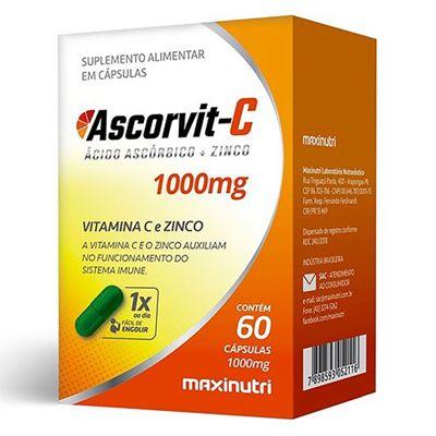 Ascorvit c 1000mg 60 Caps Maxnutri