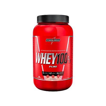 Whey 100% Pure 907g Morango Integralmedica