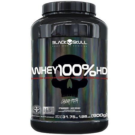 Whey 100% Hd 900g Pt Morango Black Skull