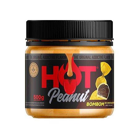 Pasta De Amendoim 500g Bombom De Chocolate Branco Hot Fit