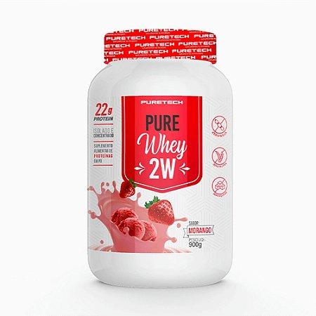 Whey Pure 2w 900g Morango Puretech
