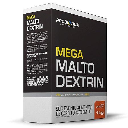 Mega Malto Dextrin 1kg Laranja Probiótica
