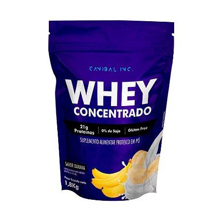 Whey Concentrado 1,8kg Banana Canibal Inc