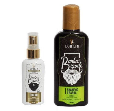 Blend Barba Extreme + Shampoo Para Barba e Bigode Lorkin