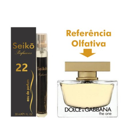 Núm-22 30ml Ref. Olfativa em Perfume The One Eau Parfum